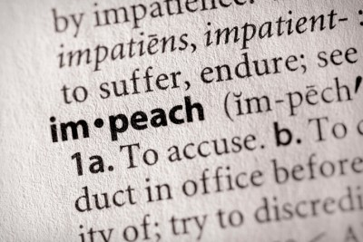 "Selective focus on the word ""impeach"". Many more word photos for you in my portfolio..."
